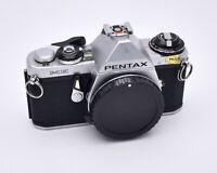 Pentax Silver ME 35mm SLR Film Camera Body Only PK Mount READ (#5171)