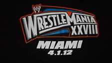 WWE Wrestlemania XXVIII T-Shirt THE ROCK Team Bring It Mens XL wrestler MIAMI