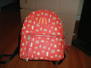 MCDONALDS' MEALTIME FAVORITES MINI BACKPACK~ WITH TAGS~ NEW~ MAD ENGINE~