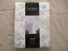 "NEW Ralph Lauren Tablecloth Floral Toile Blue & White  70"" Round   100% Cotton"