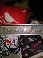 Sailing  Collection by Jack Rabbit Type Framed Stamp Art 1995 Signed # 984 VGC