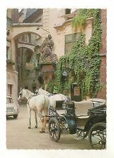 Pferdepostkarte Ak Pferd Schimmelgespann Wien Griechenbeisel Sehr guter Zustand