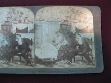 Stereoview Underwood & Underwood Married Life As He Pictured It Music Words (O)