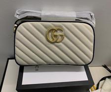 Gucci Marmont Small Shoulder Bag White Matelassé