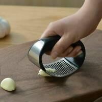 Stainless Steel Garlic Press Crusher Manual Rocking Squeezer Mincer Kitchen Tool