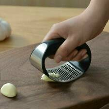 Stainless Steel Garlic Press Crusher Manual Rocking Squeezer Mincer Kitchen Tool