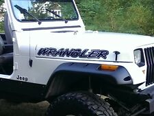 Jeep Wrangler Hood decal - BLACK - vinyl graphics sticker tj yj jk jl jku