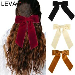 Big Large Velvet Bow Hair Clips Girls Ribbon Hairpins Hair Accessories Barrette