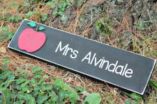 custom teacher sign, personalized teacher name sign, desk sign, teacher room