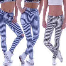 Röhrenjeans Röhren Jeans Skinny Stoffhose Hose Röhre Streifen Slim Gestreift  W24 9a031e7430