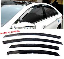 3D Smoke Tint Door Window Visors Shade Rain Deflectors For Sonata 2011-2014