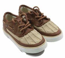 c5249500fb6 Polo Ralph Lauren Marrón   Beige Lona Zapatos de Piel Número 10m