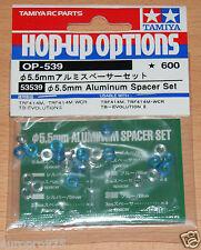 Tamiya 53539 5.5mm Aluminum Spacer Set (TA06/TA07/TB04/TRF417/TRF418/TRF419) NIP
