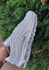 Mens nike air max 97 trainers size 10 UK triple white.vgc 95 90 98 tn 1