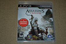 Assassin's Creed III 3 (Sony PlayStation 3, 2012) Black Label Complete Fast Ship