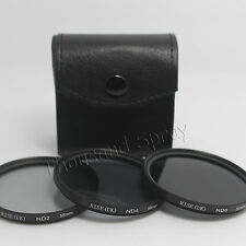 58mm ND Neutral Density Filter Set ND2 ND4 ND8 for Canon Nikon DSLR Lens