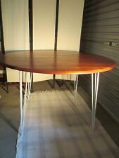 VINTAGE DINING TABLE (SOLID TIMBER TOP/METAL HAIRPIN BASE)
