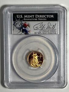 2003-W PCGS PR 70 DCAM Philip Diehl Signature Proof $5 American US Gold Eagle