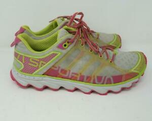 La Sportiva Helios III Mountain Running Sneakers Green/Pink Women's US 8