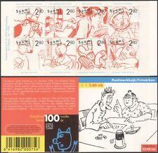 Finlande 1996 bandes dessinées/ANIMATION/DESSINS/CARICATURES/Artistes 8 V Bklt (n45262e)