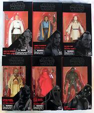 "STAR WARS BLACK SERIES 6"" inch Royal Guard,K2SO,Qui-Gon,Lando,Raider,Krennic"