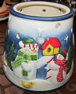 Candle Cappers Snowman & Forest Animals Christmas Holiday Candle Topper