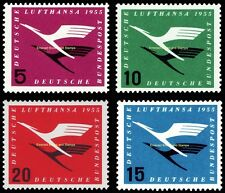 EBS Germany 1955 Lufthansa resumes services Michel 205-208 MNH**