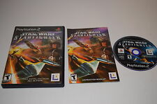 Star Wars Starfighter Sony Playstation 2 PS2 Video Game Complete