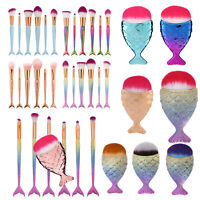 HOT! Mermaid Brush Kit Foundation Eyeshadow Brushes Cosmetic Makeup Brushes Tool