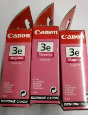 3x CARTUCCIA CANON 3e bci-3em MAGENTA per SERIE i550 i850 i6500 s400 450