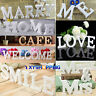 Large Wooden Letters Wood Words Name Alphabet Bridal Wedding Birthday Home Decor