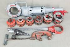 New listing Ridgid 700 Kit Electric Pipe Threader 12R Dies Spiral Reamer Cutter Ratchet
