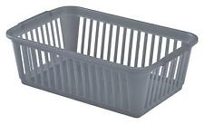 WHITEFURZE SMALL HANDY BASKET  25cm - SILVER