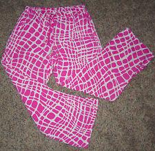 Med VICTORIA'S SECRET Pink Giraffe Print Flannel Pajama Lounge Sleep Pjs Pants