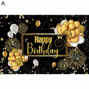 Happy Birthday Backdrop Banner Background Cloth Photo Props Party Home Decor Hot