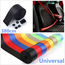 Black 380cm Car Off-Road Front 3-Point Safety Retractable Seatbelt Seat Belt Kit