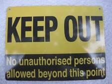 Vintage Style Quality Metal Sign-KEEP OUT-NO PERSONS BEYOND THIS POINT-Fab!
