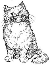 Unmounted Rubber Stamps, Rubber Stamps, Animals, Curious Kitty, Cute Cat, Feline