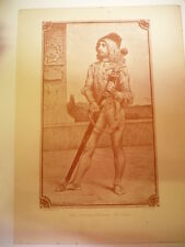 GRAVURE PAGE PORTE-EPEE FLORENCE XVeme SIECLE 1900