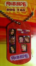 "NEW REBELDE RBD Red Photo Diego Lupita Mi DOG TAG PENDANT 28"" CHAIN Adj NECKLACE"