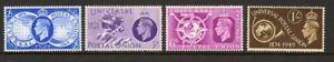 GB 1949 UPU SG499-502 MNH mint set 4 stamps