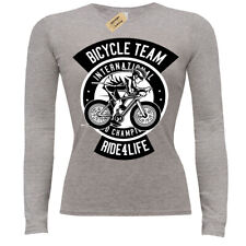 Bicycle Team T-Shirt Ride for life ladies long sleeve