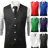 Men's Vest Waistcoat Summer Casual Fashion Sleeveless Waistcoat Formal