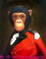 LMOP710 abstract animal monkey big gorilla portrait art oil painting canvas