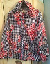 Joules Womens Golightly Printed Waterproof Packaway Jacket Size 14