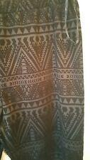 SALE Crossroads Aztec Ponte Black/Grey Flocked Pants size XXL New with Tags