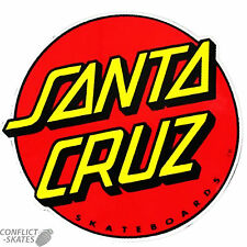 "SANTA CRUZ ""Classic Dot"" Skateboard Snowboard Surfboard Sticker Decal 8cm Red"
