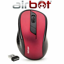 Airbot Wireless Cordless Optical Scroll dpi Mouse Mice pc computer notebook-ROSSO