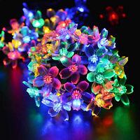 20 LED Battery Blossom Flower Copper Fairy String Light Wedding Xmas Party Decor