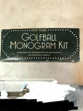 Past Times Golfball Monogram kit Gift Father's Day Christmas Stocking filler